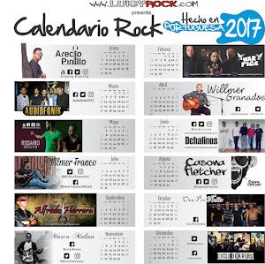 Descarga e imprime el Calendario Rock hecho en portuguesa 2017
