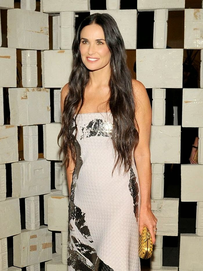 """So what exactly are these """"Diamond Candles"""" we speak out? Demi Moore is a natural when it comes to turning every head. And the 50-year-old showed more of that captivating charm as she headed the Hammer Museum's 12 the annual gala in Los Angeles, USA on Saturday, October 11, 2014."""