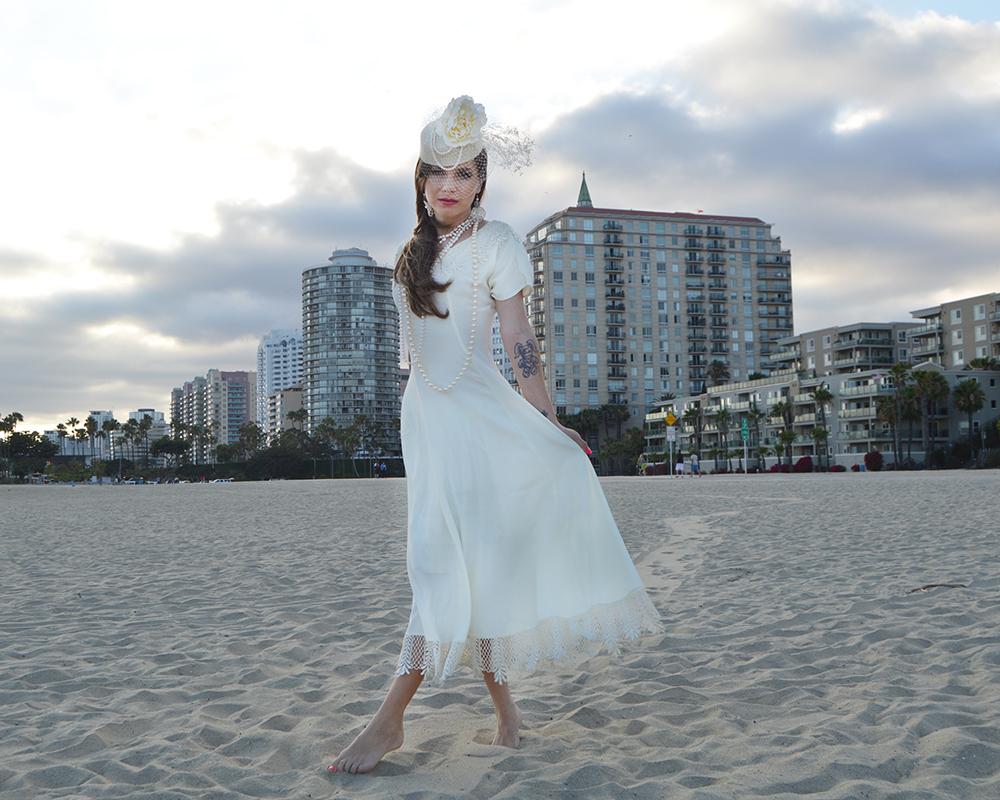 White Purls Wedding at the Beach in Long Beach, CA