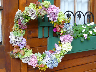 Late summer wreath - 2012