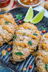 Crispy Baked Thai Peanut Sauce Coated Chicken
