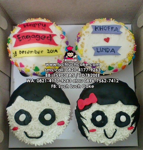 Cupcake Tunangan Buttercream Daerah Surabaya - Sidoarjo