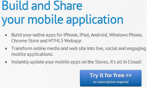 AppsBuilder Lets You Develop Websites Into Mobile Apps