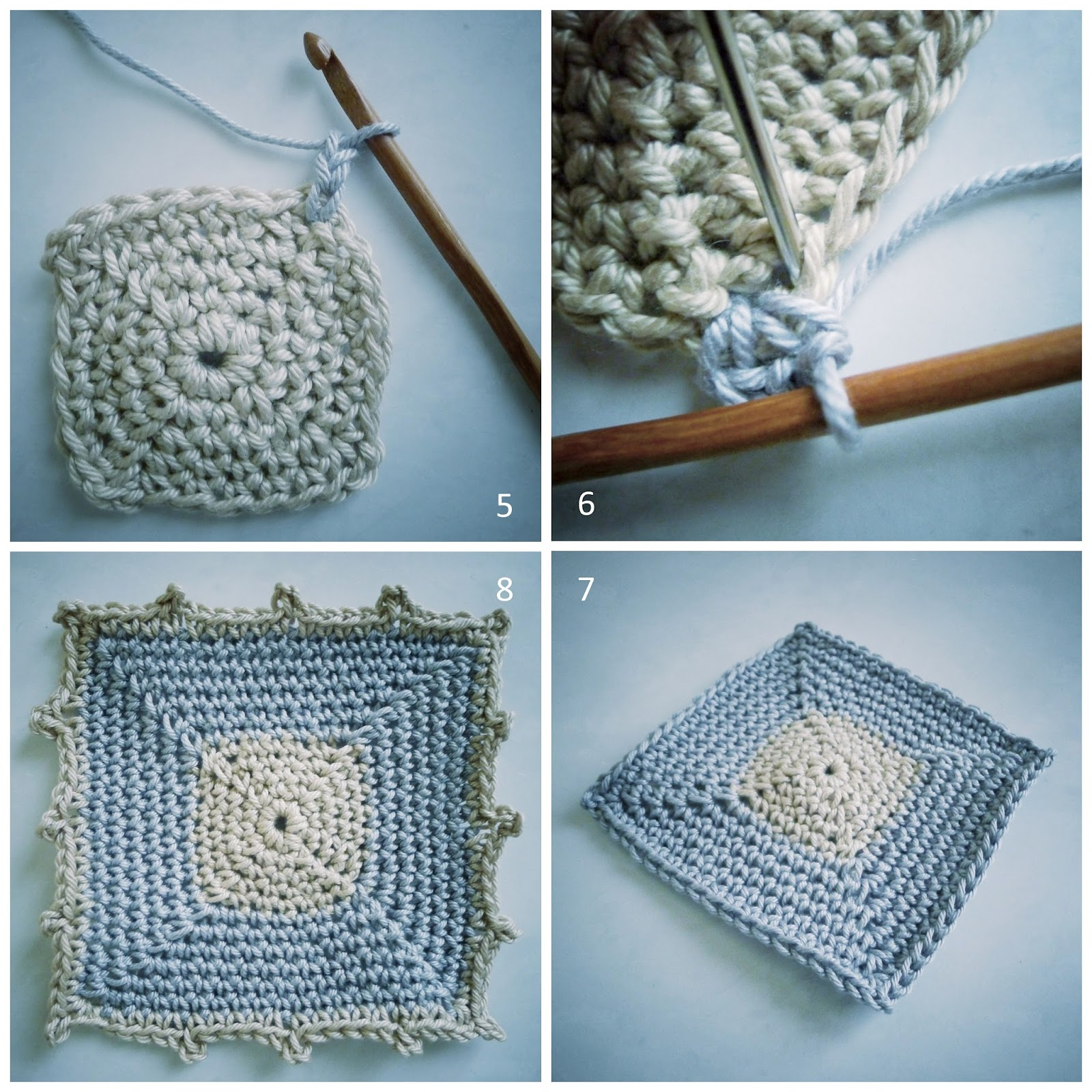 pigtails: Single Crochet Square Pattern