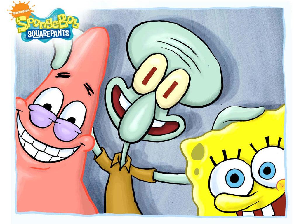 happy patrick squidward spongebob wallpapers cute spongebob