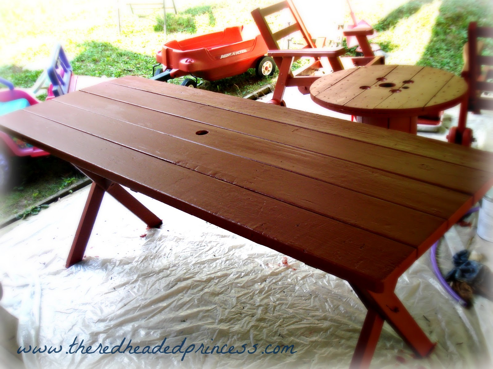 Trash to Treasure Picnic Table