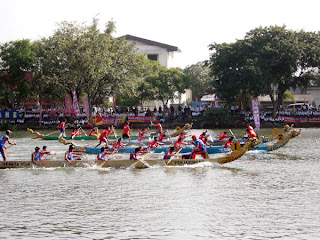 Wisata Aceh, Simeulue Ate Fulawan Dragaon Boat Festival