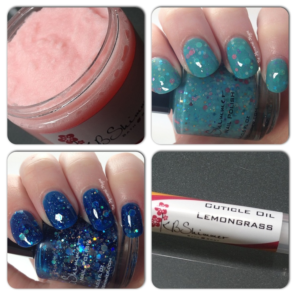 KBShimmer Laugh Myself Lily & I Got A Crush On Blue Swatches PLUS Sugar Scrub & Cuticle Oil Pen Review!