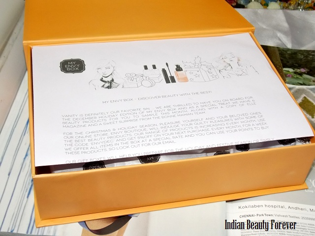 My Envy Box December Edition 2013