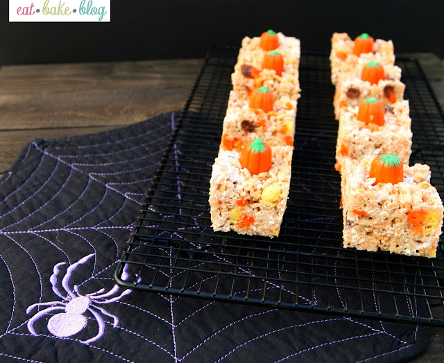pumpkin spice rice crispy treat recipe