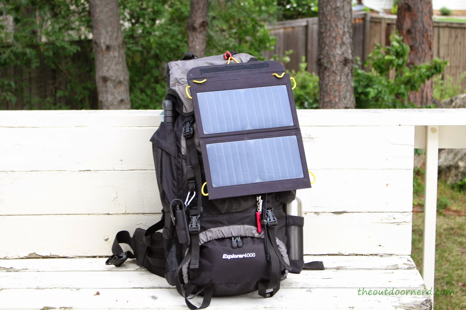 Teton Explorer 4000 Hiking Backpack With Solar Panel: Front View