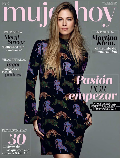 Model, Television Presenter, @ Martina Klein - Mujer Hoy Spain, January 2016