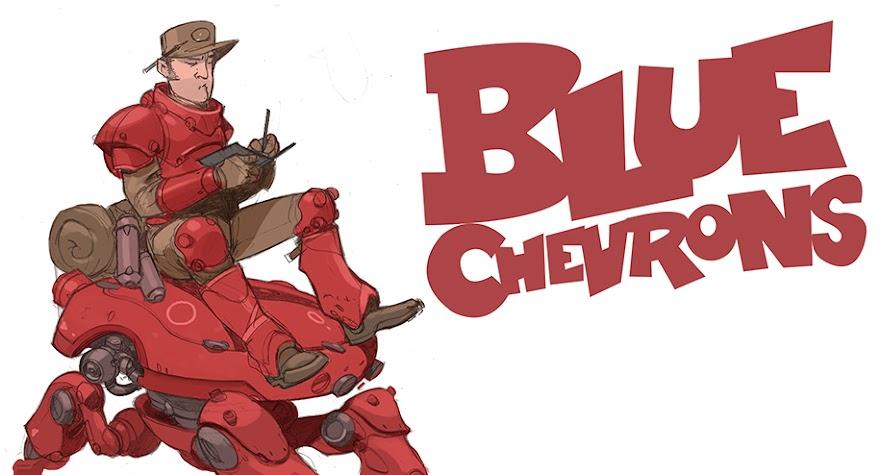 Blue Chevrons