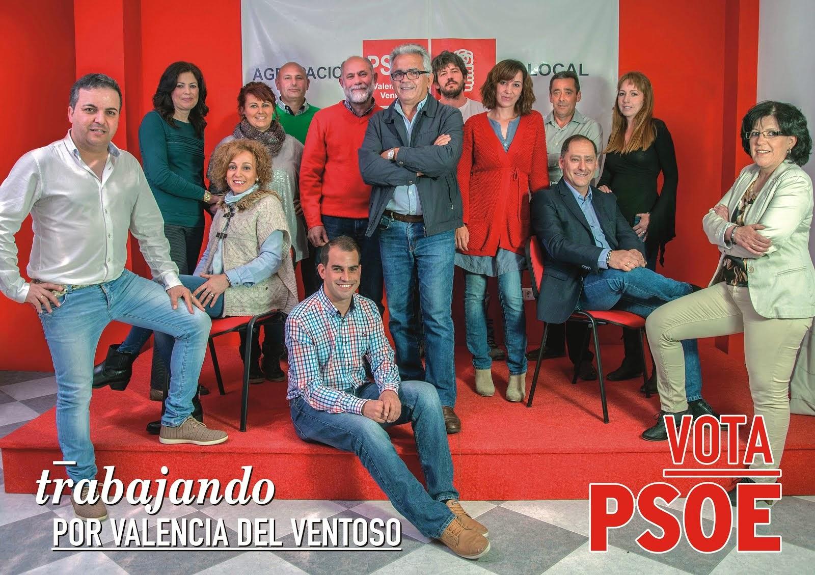 Candidatura del PSOE al Ayuntamiento de Valencia del Ventoso Mayo de 2015