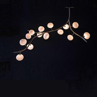 zimmerman lighting. Like Lily Of The Valley, Its Pods Flowers Dangling Off Their Stem, This Naturally Organic Formed Light Pendant Is A Glam Piece Functional Art And One Zimmerman Lighting