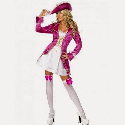 Disfraz chica Pirata Lila