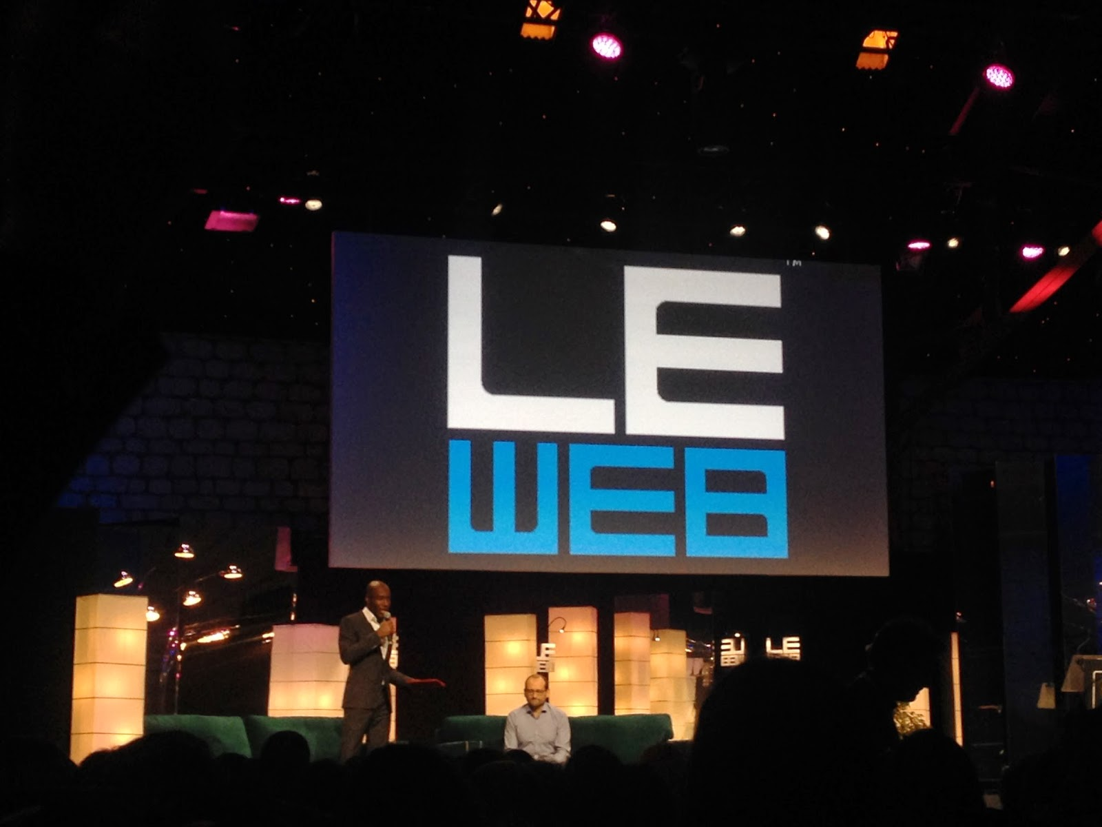 Michael Aidan and Anicet Mbida at LeWeb'14 Paris