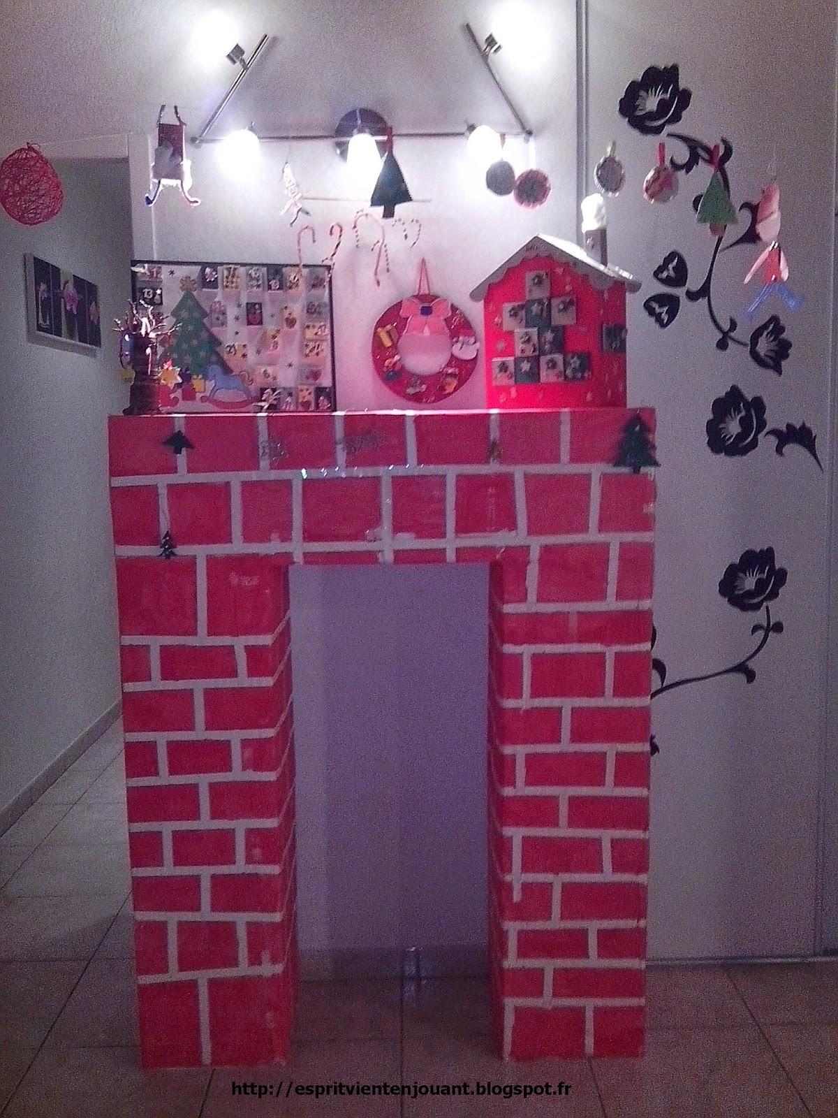Gut gemocht L'esprit vient en jouant: DIY cheminée en carton (activité de Noël  CQ68