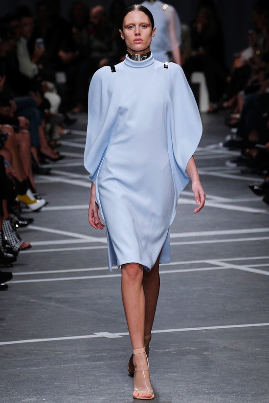 Powder Blue Givenchy Runway Dress SS 2013