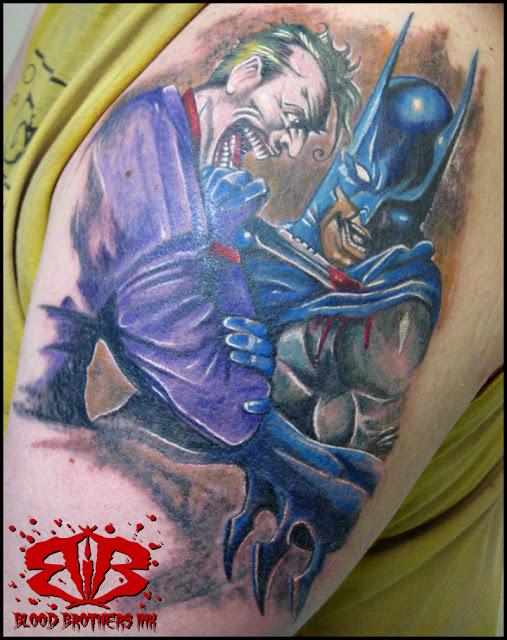 Batman tattoos joker tattoos for Joker batman tattoo