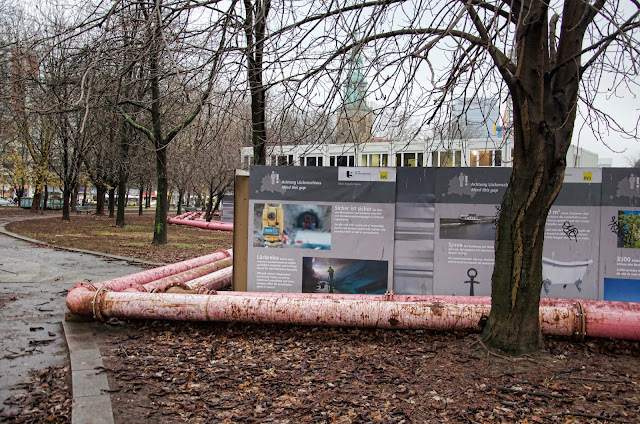 Baustelle Marx-Engels-Forum, Erweiterung der U-Bahn Line 5, Am Roten Rathaus, Karl-Liebknecht-Straße, 10178 Berlin, 10.12.2013