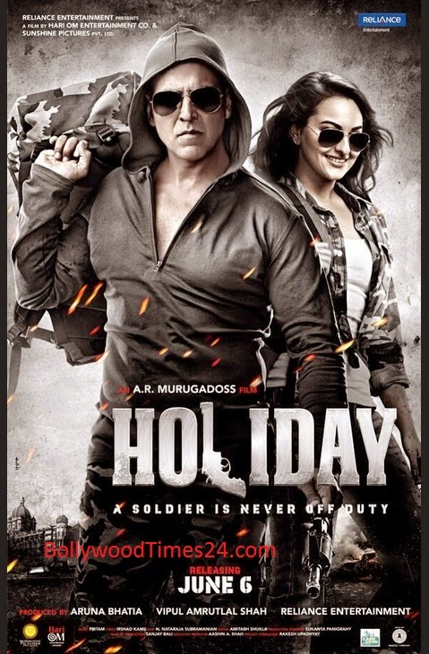 Holiday Movie Poster,A Soldier Is NeverOff Duty Hindi Full Movie Poster 2014