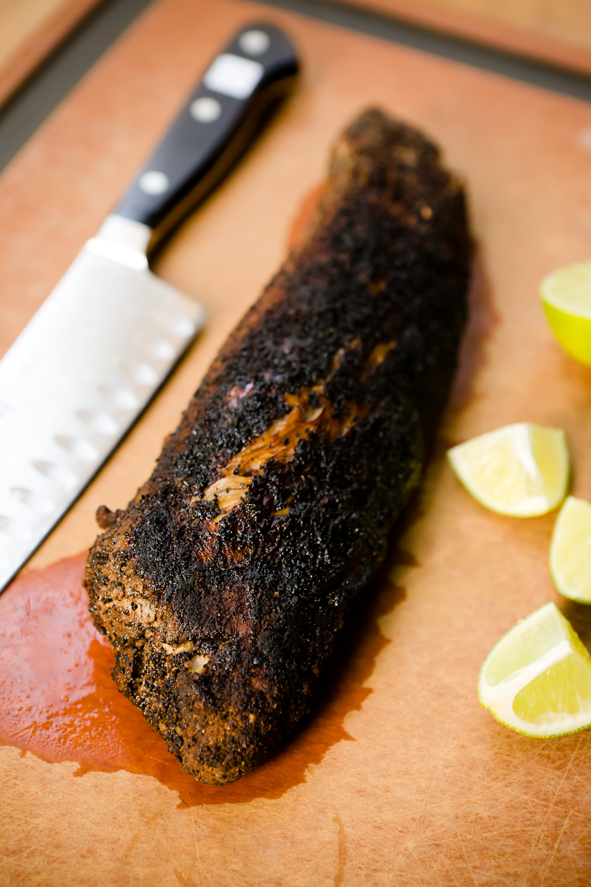 Coffee-Rubbed Pork Tacos on Homemade Chocolate Corn Tortillas ...