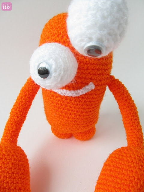 Monster Amigurumi Vol 5 : {Amigurumi Greg the Crab Monster} - Little Things Blogged