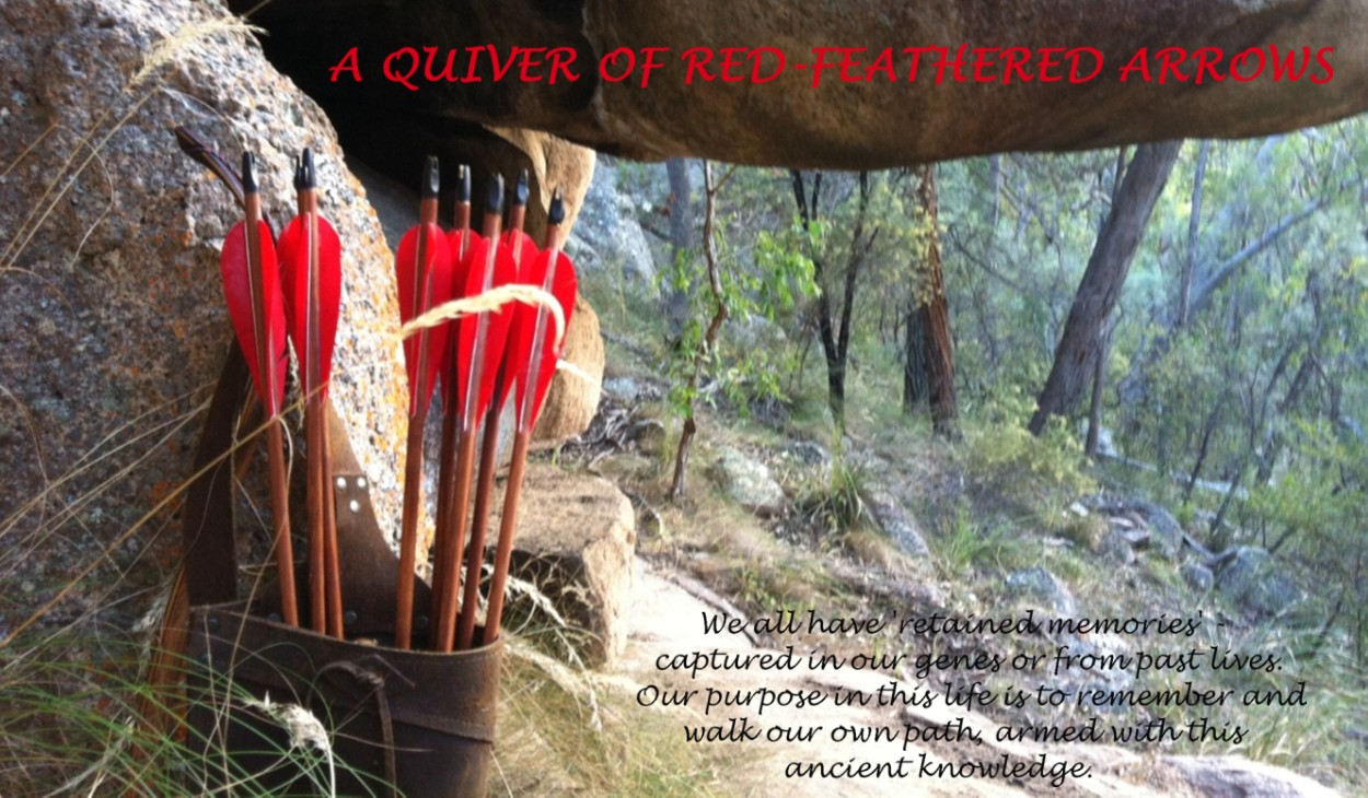 A QUIVER OF RED-FEATHERED ARROWS