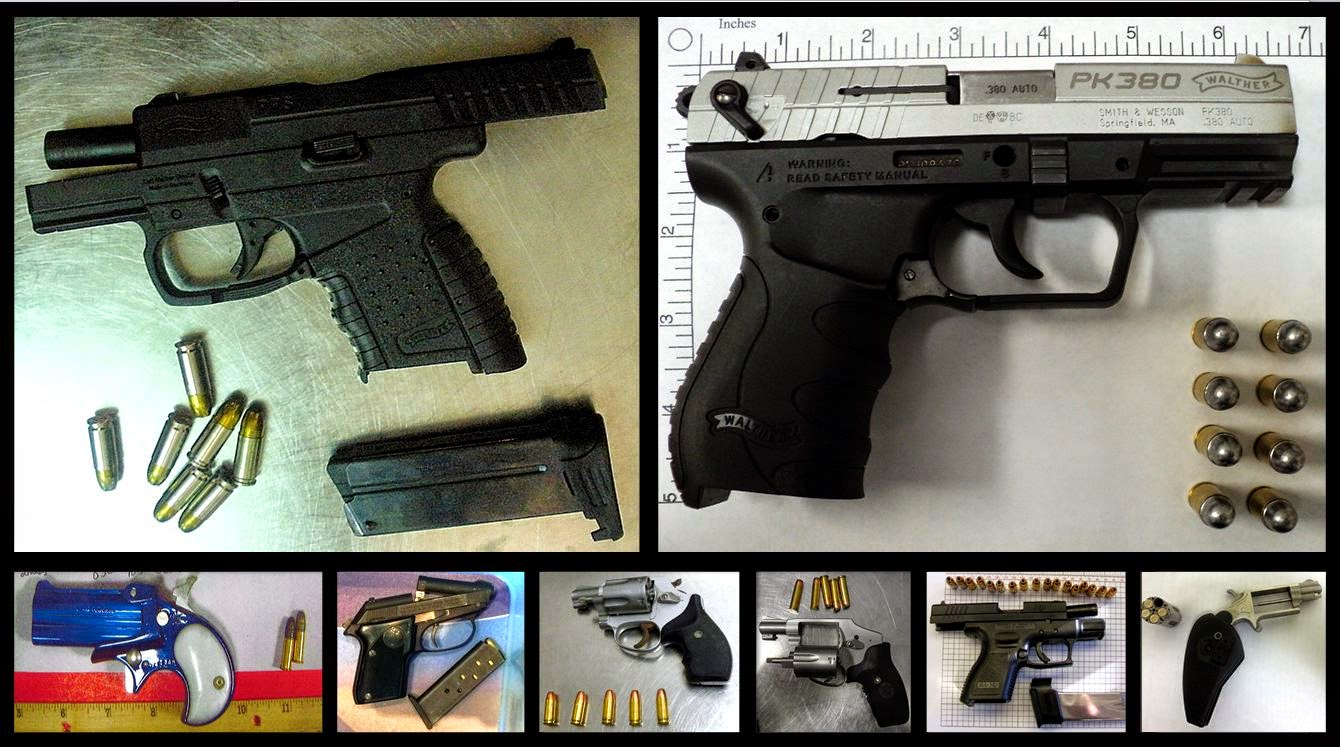 Guns Discovered at (L-R / T-B) CVG, XNA, TLH, JFK, SBN, MSY, GSP, TUL
