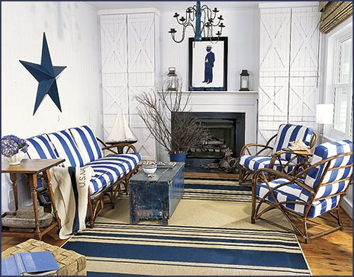 Decorating theme bedrooms maries manor nautical bedroom for Beach cottage style living room furniture