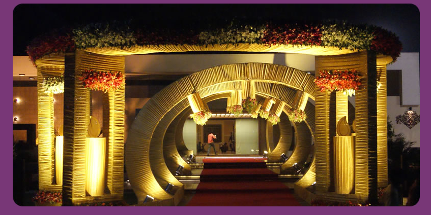A wedding planner indian wedding hall and mandap entrance decorations Home decoration tips in marathi