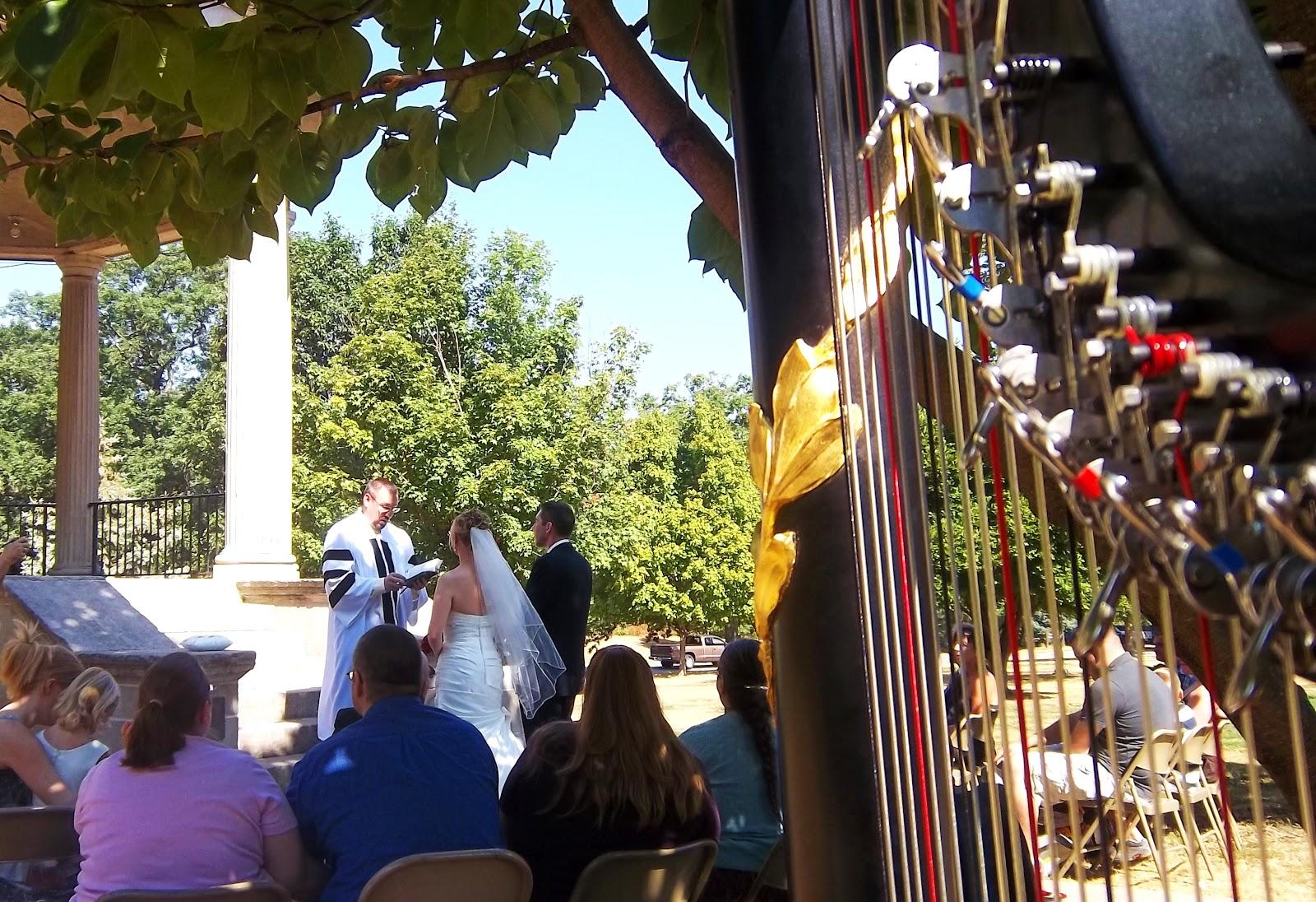 Central Illinois Harpist Wedding At Springfields Washington Park