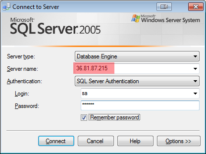 Setting Akses Remote Server SQL Via Internet