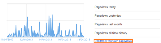 Dont track my pageviews