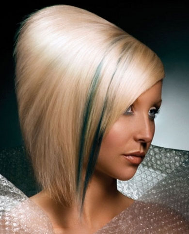 Chic Green Hair Highlights