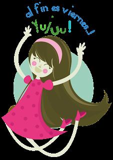 mujer saltando de alegria porque es viernes