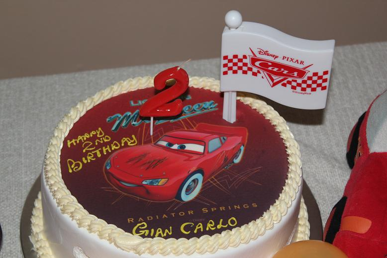 Cherry Berry Lightning Mcqueen Car Party Gians 2nd Birthday