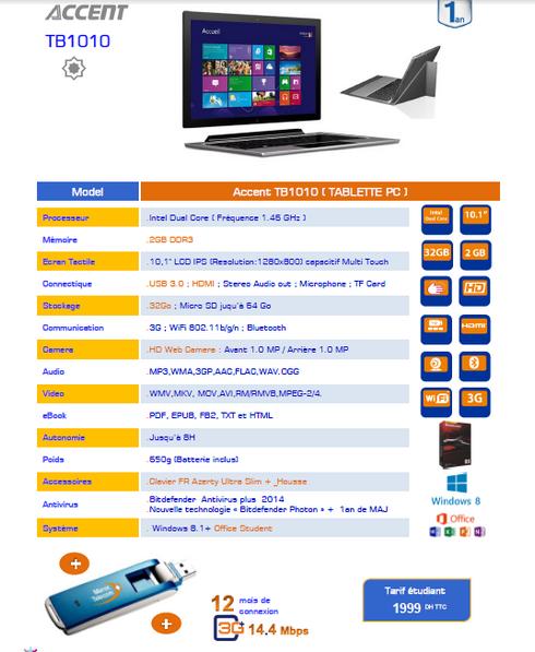 Les offres de maroc t l com iam pour injaz dition 2014 tic maroc - Pack office pour tablette ...