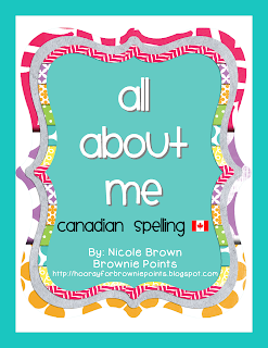 https://www.teacherspayteachers.com/Product/All-About-Me-Book-Canadian-Spelling-904439