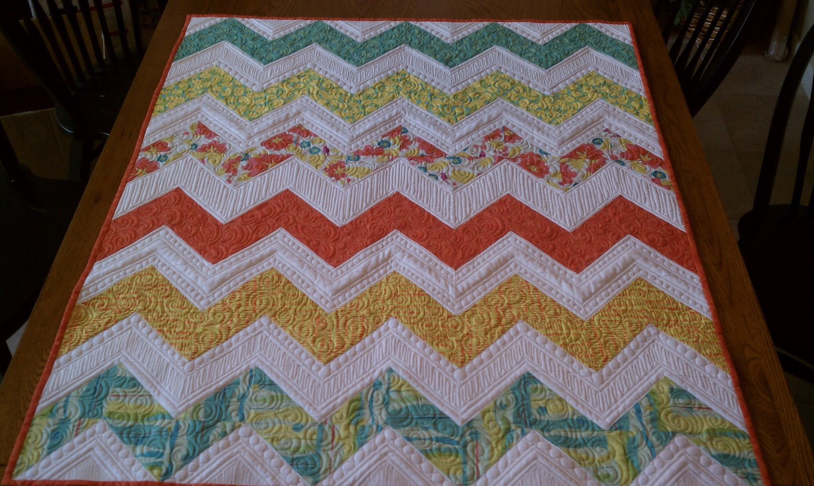 Quilting Designs For Chevron Quilts : My chevron quilt