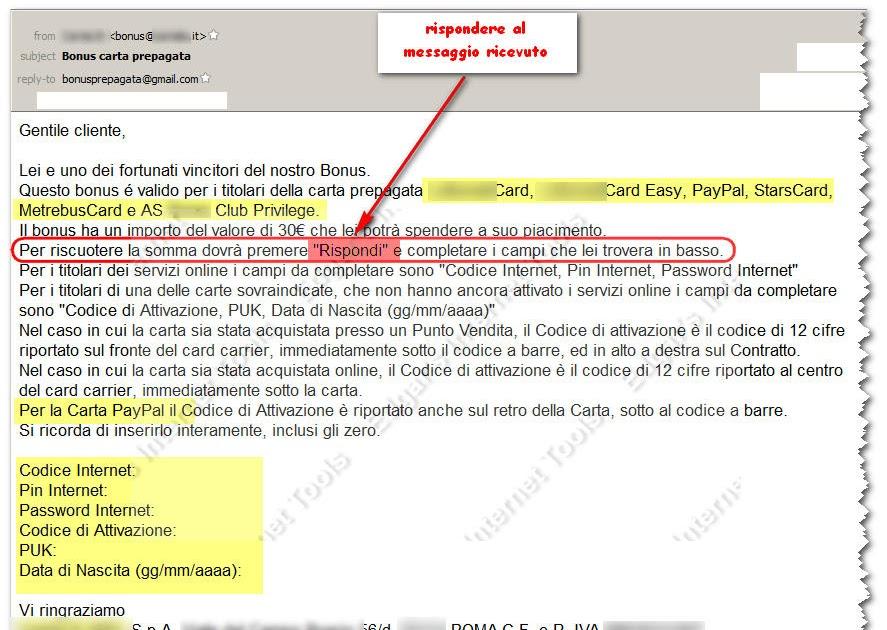 Edgar's Internet Tools: Semplice ma anche probabilmente efficace tentativo di furto di ...