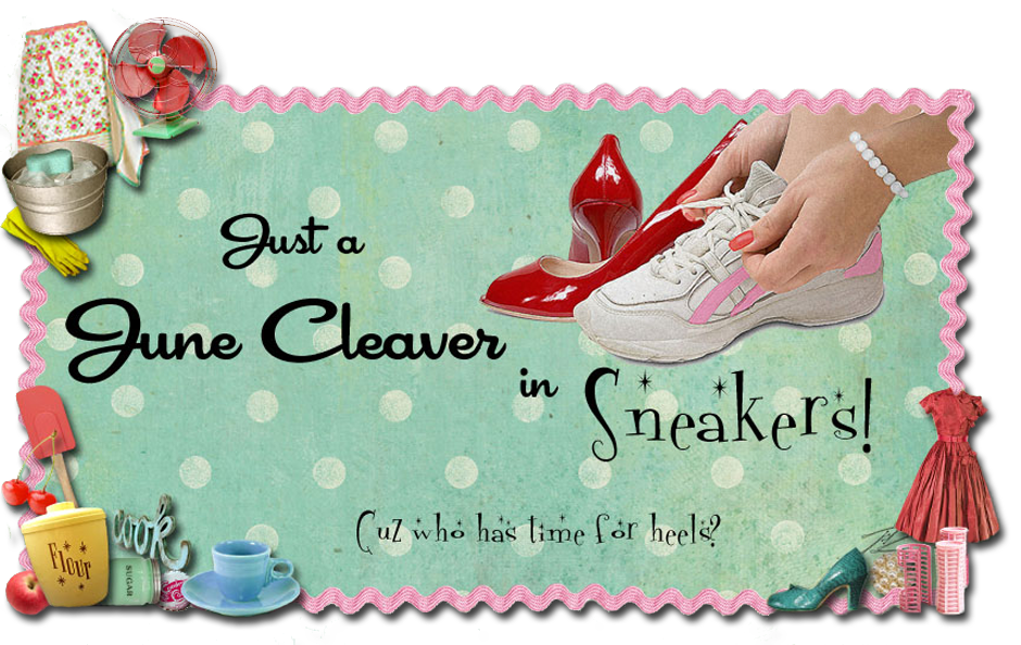 Just a June Cleaver in Sneakers