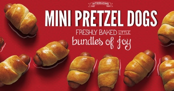 News: Auntie Anne's - New Mini Pretzel Dogs | Brand Eating