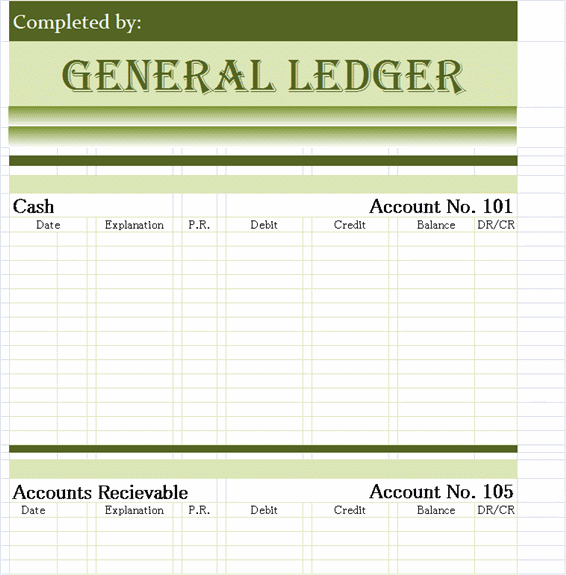 Download General Ledger Templates in excel format xlsx Free – Accounting Ledgers Templates