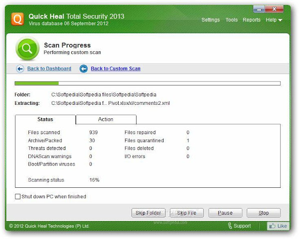 Free Download Quick Heal Antivirus 2013 Via Direct Download Links Full Version Cracked