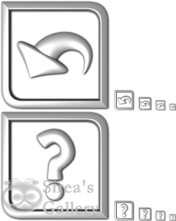 Back and help icons