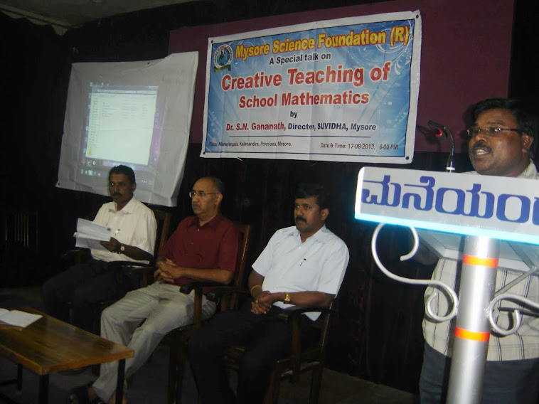 "talk on ""creative teaching of school mathematics"""