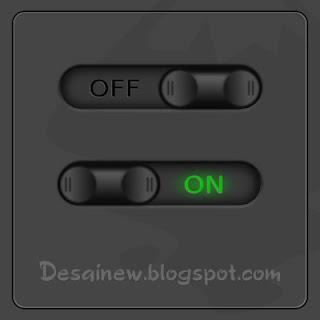 Desain Vektor Tombol on off di Inkscape (on off button vector design)