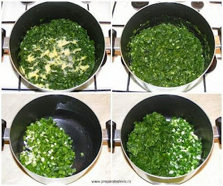 umplutura placinta preparare, preparare umplutura pentru placinta cu branza si spanac, retete cu spanac, preparate din spanac, retete culinare, retete de mancare, compozitie de spanac si ceapa verde pentru placinta,